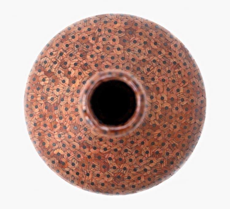 pencil vase from above