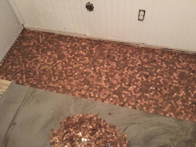 penny floor taking shape