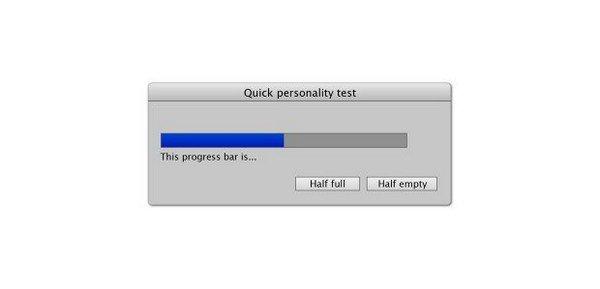 personality test progress bar
