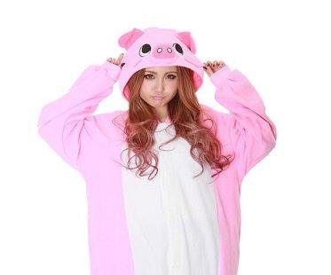 pig onesie hood de92ce210b23
