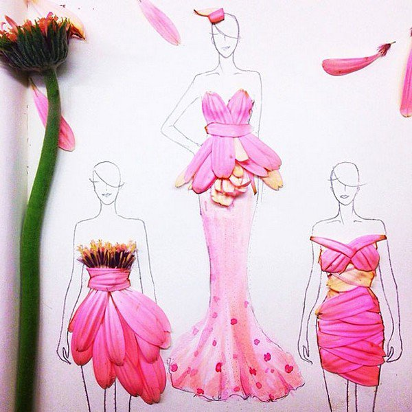 pink petal dress styles