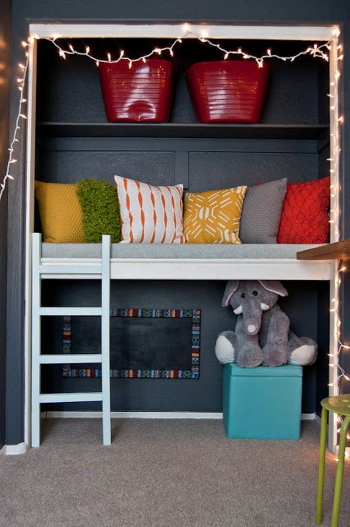reading nook padded bench