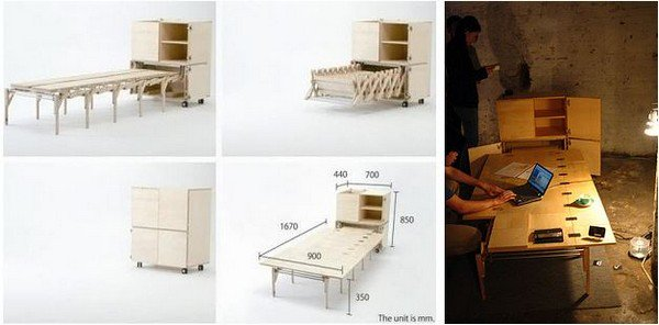 retractable dining table