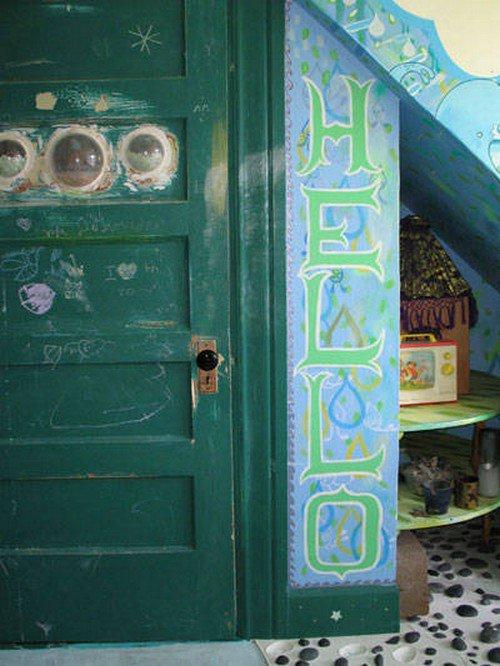 secret raindrop hello door