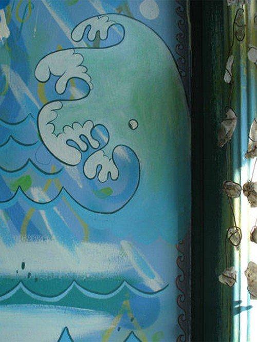 secret raindrop waves wall