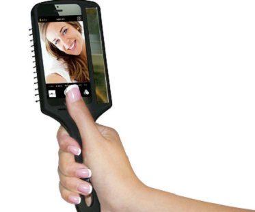 selfie hairbrush black
