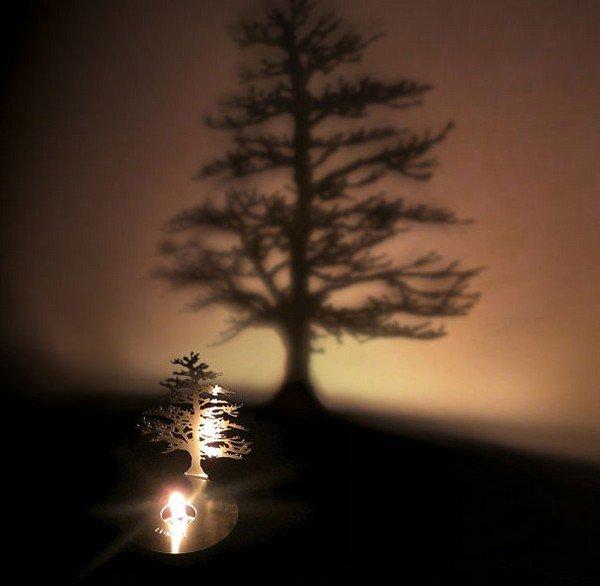 shadow art candle