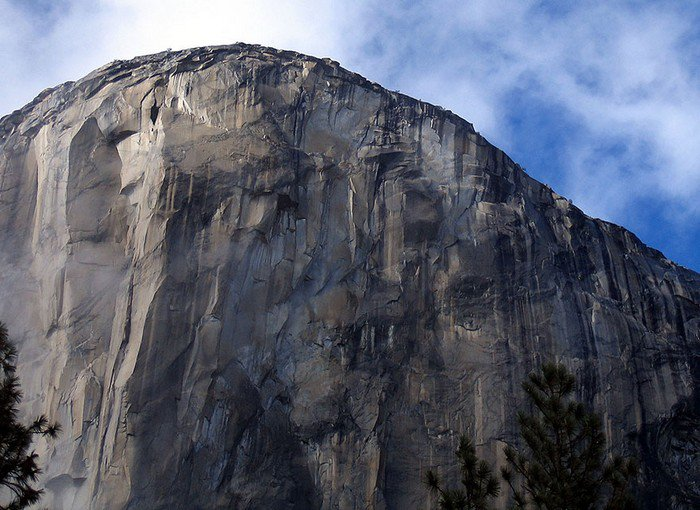 sheer rock face