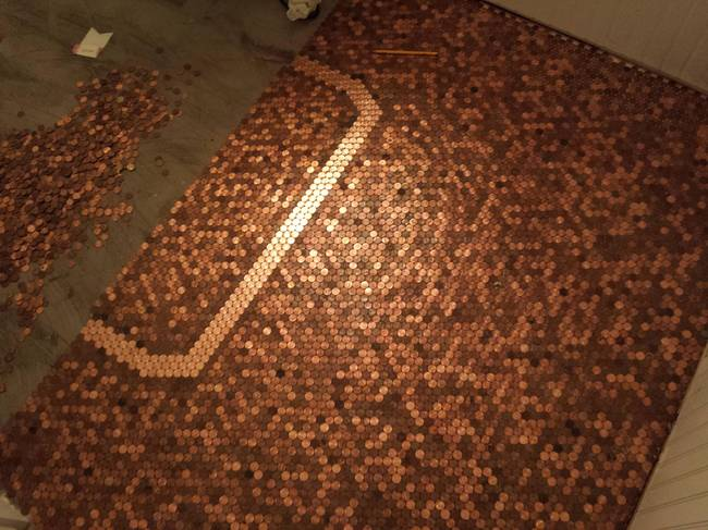 shiny pennies floor