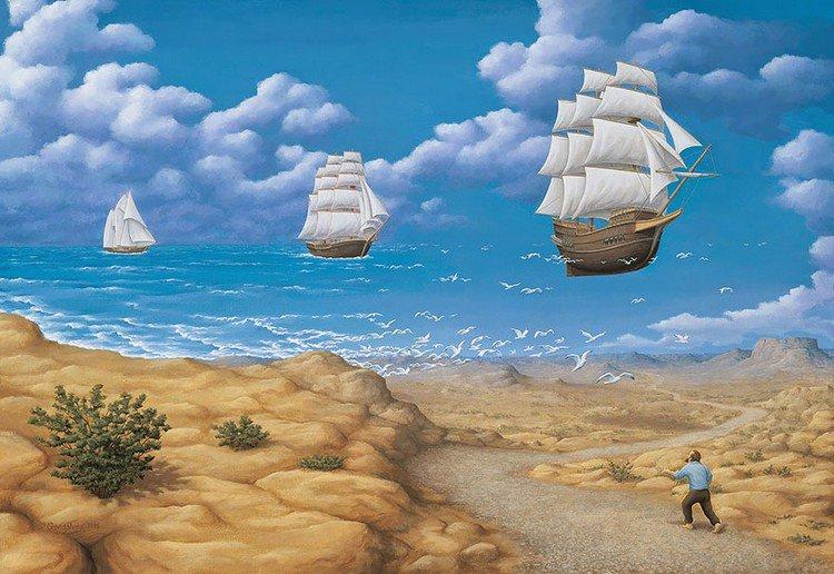 ship sea sky