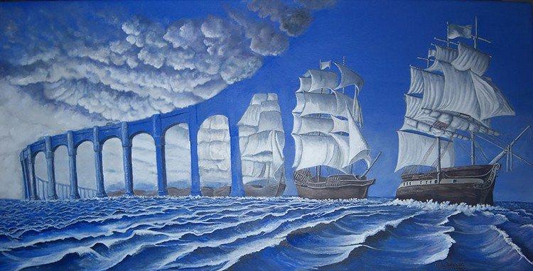 ships bridge water
