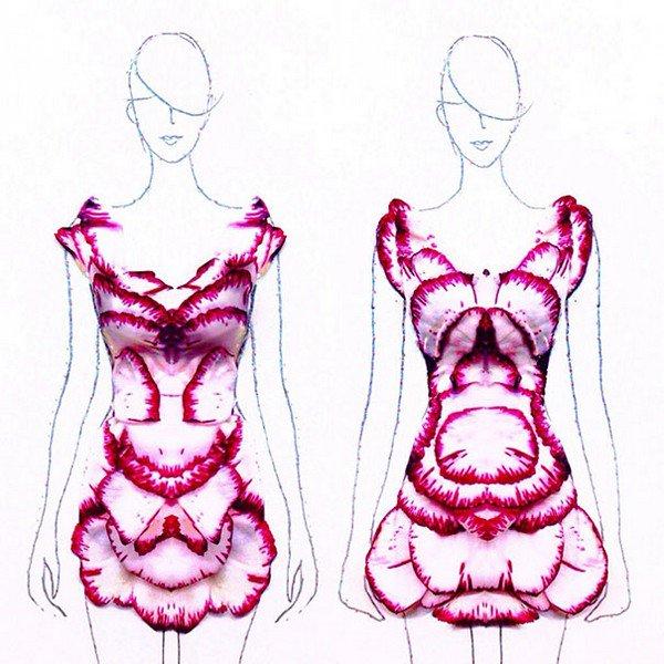 short petal dresses