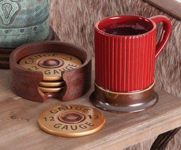 shotgun shell mug coasters