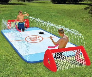 slip and slide hockey rink