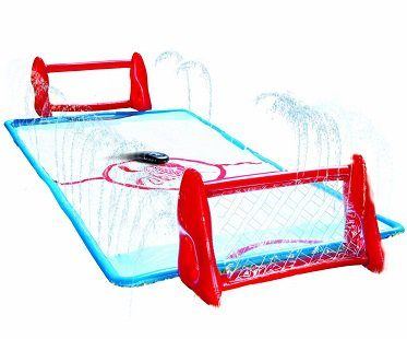 slip and slide hockey rink outdoors