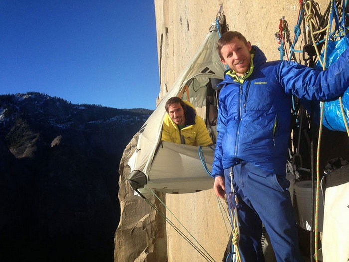 smiling climbers