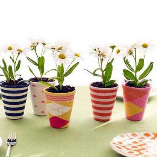 sock pots flowers