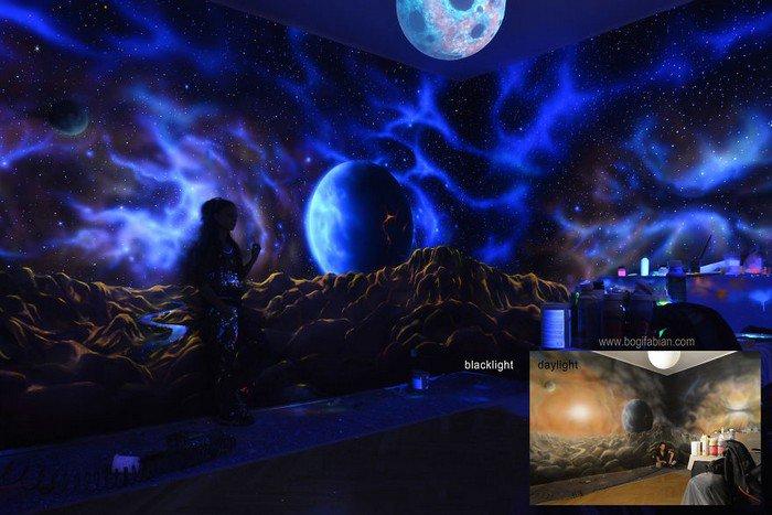 space mural