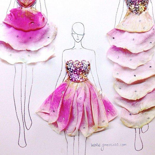 sparkly petal dress