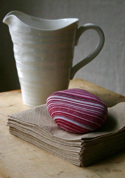 stripy paperweight mug