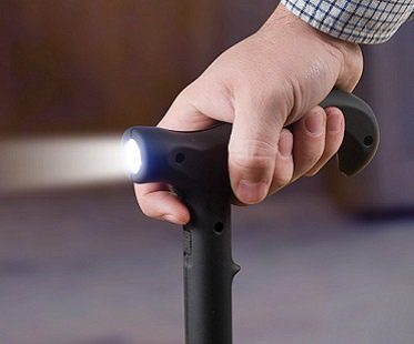 stun gun walking cane flashlight