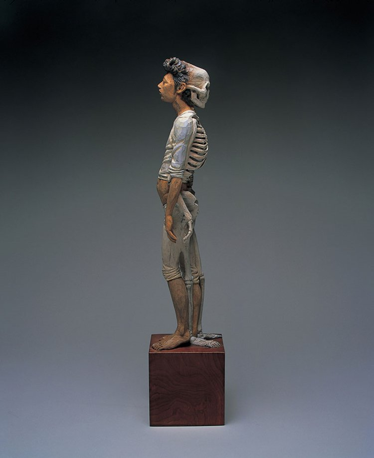 surreal-wooden-sculpture-art-yoshitoshi-kanemaki-skeleton