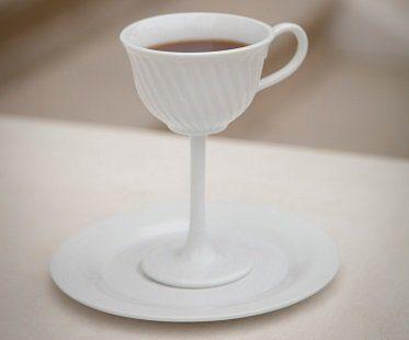 tall tea cup white