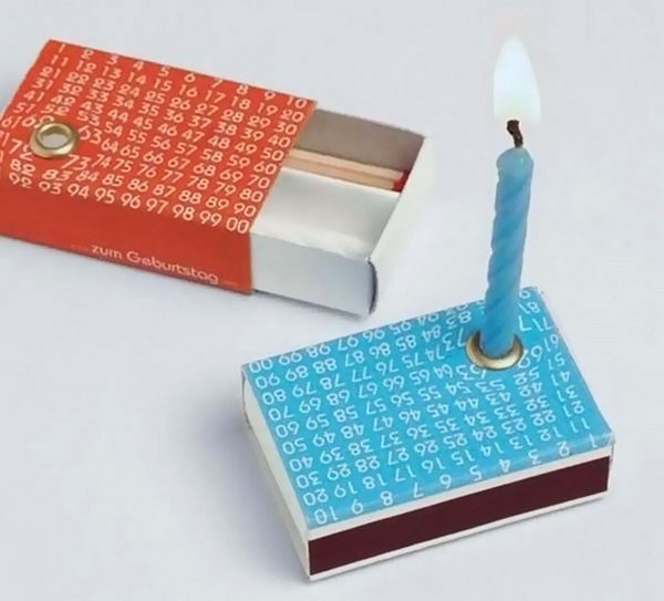 tiny matchbox candle