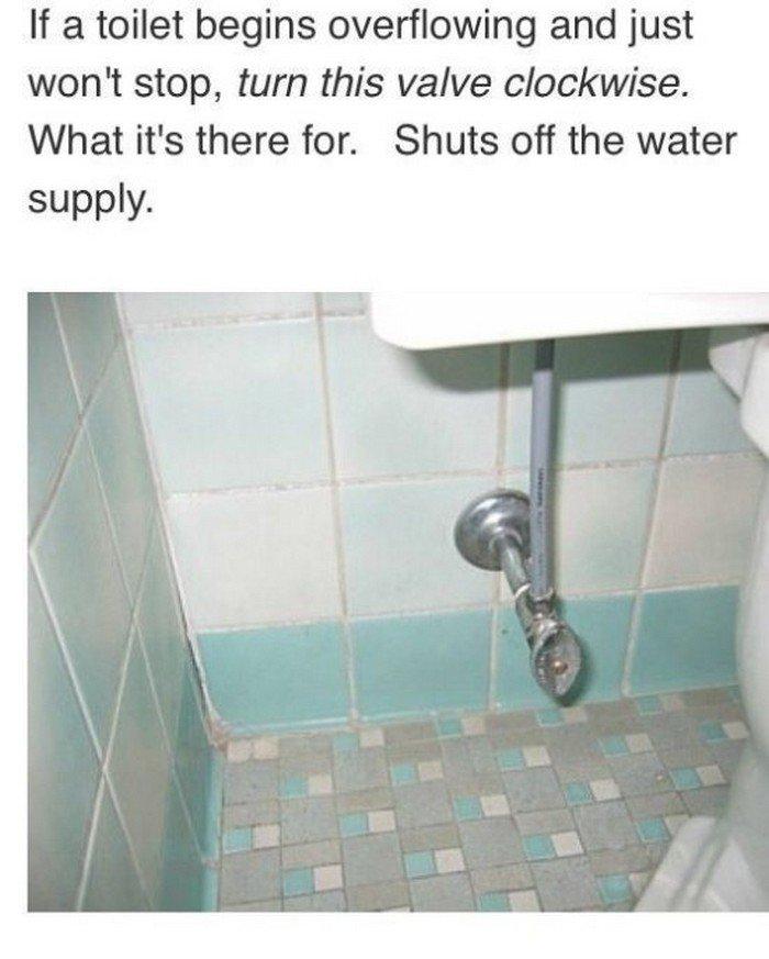 toilet stop valve