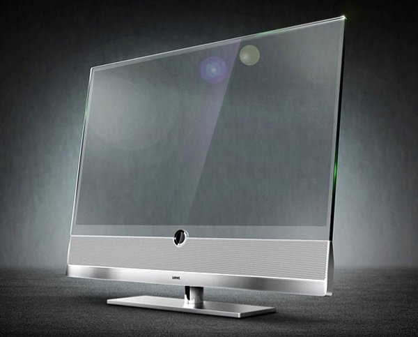 transparent tv close up