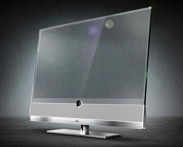 transparent tv close up