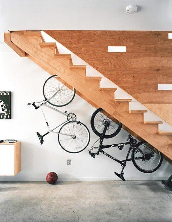 under-stair-bike-rack