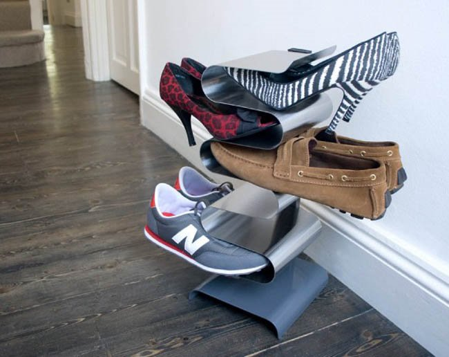 Space saving ideas anyone with a small home needs to know - Shoe rack for small spaces image ...
