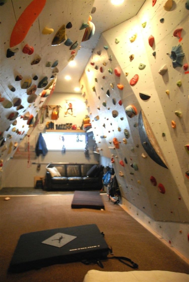 Rock Climbing Family Build Their Very Own Indoor Rock
