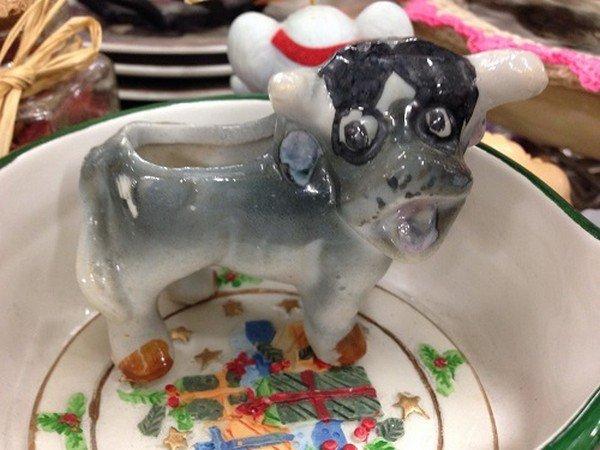 weird cow ornament