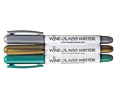 wine glass pens writers