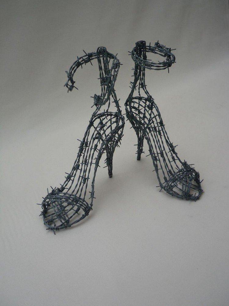 wire heels