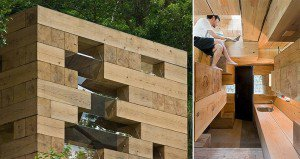 wooden cube house