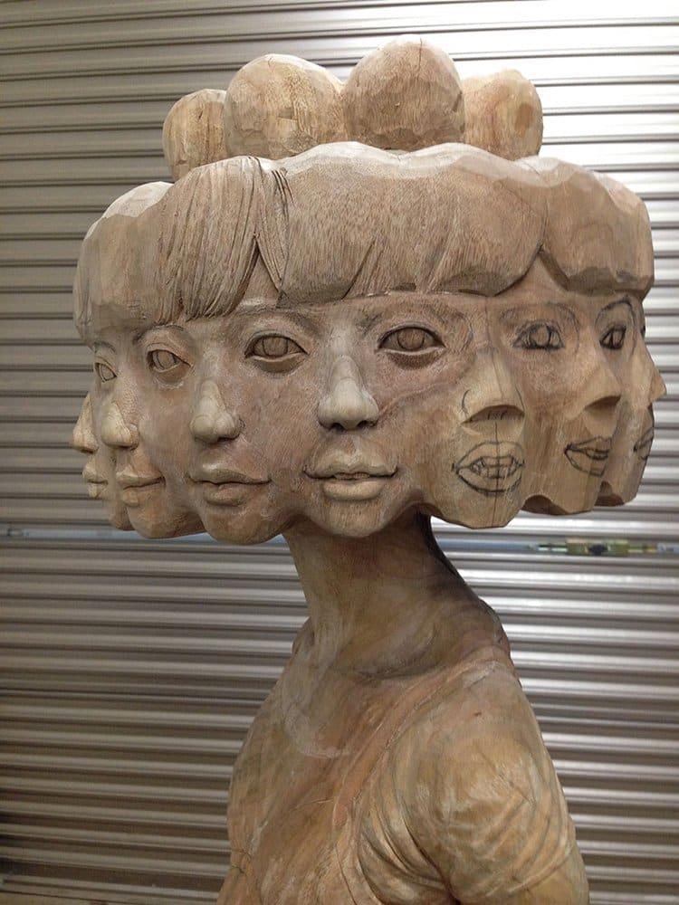 wooden-sculpture-art-face