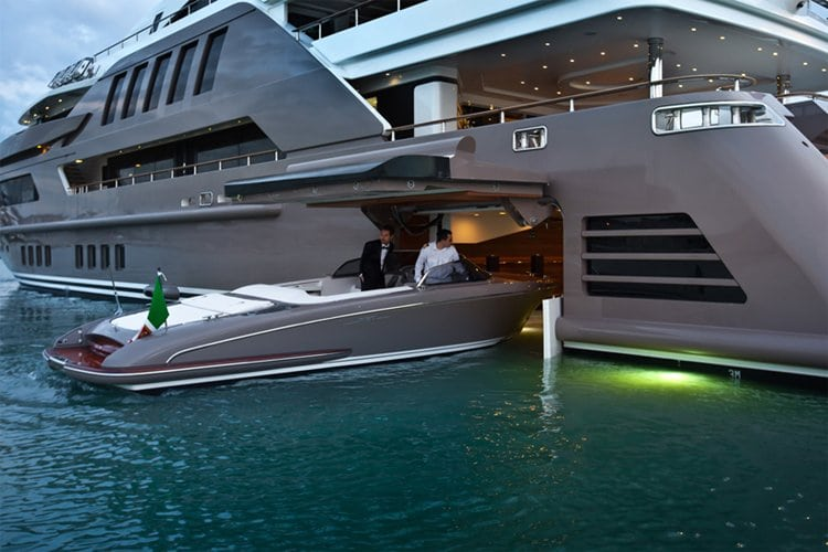 You Know Youre Rich When Your Yacht Has A Garage For Speed