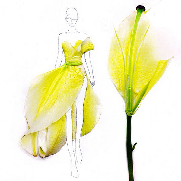 yellow petal dresses