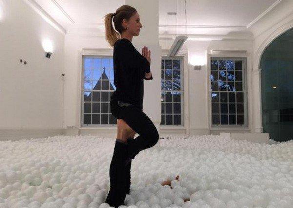 yoga woman balls