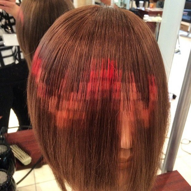 zig zag pixelated hair