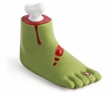 zombie foot dog toy chew