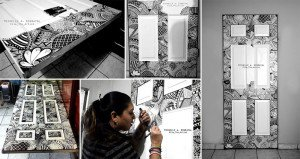 Artist Doodles On Door