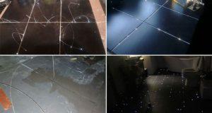 Bathroom Floor Starry Sky