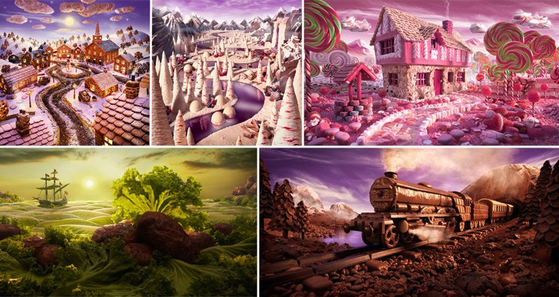 Carl Warner S Amazing Foodscapes Will Make Your Mouth