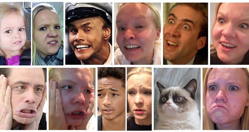 Celebrity Facial Expressions Imitations