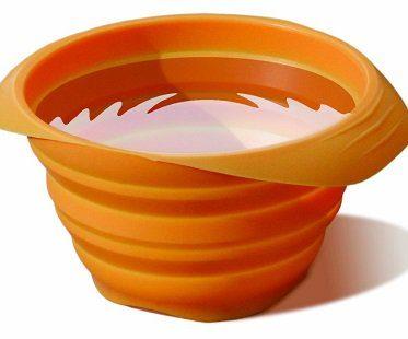 Collapsible Travel Pet Bowl orange