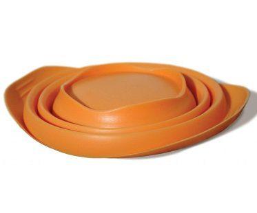 Collapsible Travel Pet Bowl orange flat